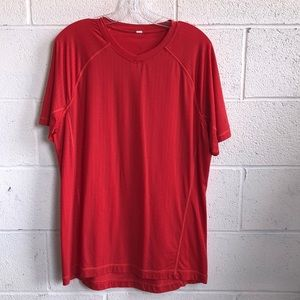 lululemon athletica Shirts - lululemon men's red t-shirt sz L 61138